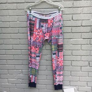 VS thermal pajama pants large printed